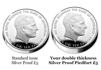 The UK 2017 Prince Philip Silver Piedfort £5