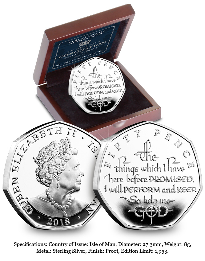CPM Coronation 65th Silver Proof Fifty Pence Landing Page Image