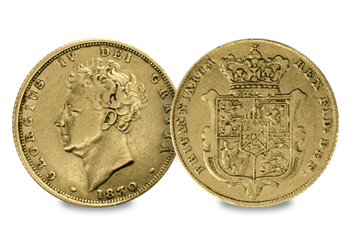 George IV 1825-30 'Bare Head' Gold Sovereign
