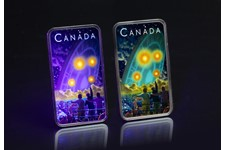 This special 1oz silver coin has been issued by the Royal Canadian Mint, featuring the Canada's best documented UFO crash. Using a black light flashlight the coin glows-in-the-dark.
