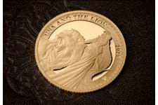 This 1/4oz gold Una & the Lion coin has been issued by The East India Company. It has been struck from 999.9 Pure gold to a Proof Finish. It comes presented in its official The East India Company box.